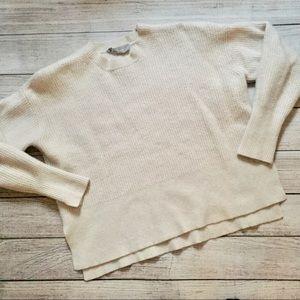 Everlane Cashmere Cream Sweater